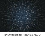 hyperspace speed travel... | Shutterstock .eps vector #564867670