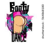 booty dance school logo with... | Shutterstock .eps vector #564868180