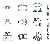 set of 9 business management... | Shutterstock .eps vector #564868390