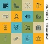 set of 16 transportation icons. ...   Shutterstock .eps vector #564868780