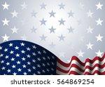 american flag  for presidential ... | Shutterstock . vector #564869254