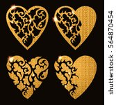 decorative floral heart with... | Shutterstock .eps vector #564870454