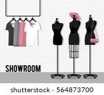 vector illustration with coat... | Shutterstock .eps vector #564873700