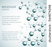 dna and molecule. vector... | Shutterstock .eps vector #564874348