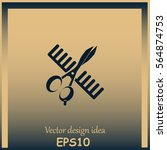 comb and scissors icon.   Shutterstock .eps vector #564874753