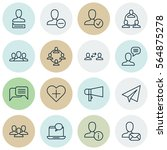 set of 16 social network icons. ... | Shutterstock .eps vector #564875278