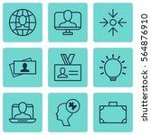 set of 9 business management... | Shutterstock .eps vector #564876910