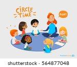 kids listen and talk to... | Shutterstock . vector #564877048
