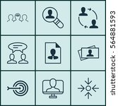 set of 9 business management...   Shutterstock .eps vector #564881593