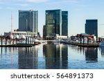city reflection  baltimore... | Shutterstock . vector #564891373