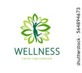 wellness vector logo design... | Shutterstock .eps vector #564894673