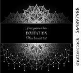 wedding invitation or card  ... | Shutterstock .eps vector #564897988