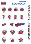 slovakia flag collection. big... | Shutterstock .eps vector #564901528