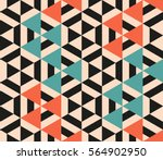 Stock vector seamless abstract pattern of geometric shapes geometric background with triangeles 564902950
