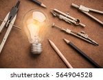 drawing tool with glow light...   Shutterstock . vector #564904528