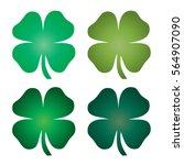 gradient four leaf clover | Shutterstock .eps vector #564907090