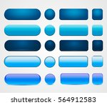 set of blank blue buttons for... | Shutterstock .eps vector #564912583