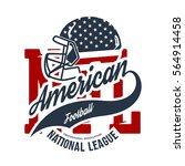 american football helmet tee... | Shutterstock .eps vector #564914458