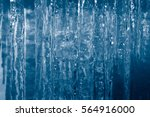 Background Of Icicles. Frozen...