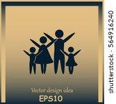 family vector icon | Shutterstock .eps vector #564916240