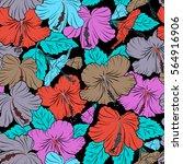 vector seamless pattern of... | Shutterstock .eps vector #564916906