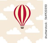hot air balloon in the clouds... | Shutterstock .eps vector #564920350