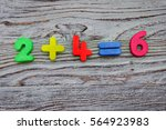 math example with numbers... | Shutterstock . vector #564923983