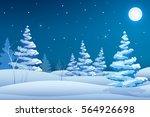 fairy night winter landscape...