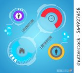 futuristic infographics with...