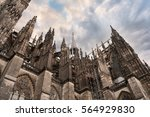 cologne cathedral in cologne ... | Shutterstock . vector #564929830