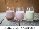selection of flavoured milk  ... | Shutterstock . vector #564933073