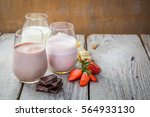 selection of flavoured milk  ... | Shutterstock . vector #564933130
