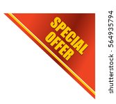 special offer template.... | Shutterstock .eps vector #564935794