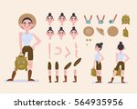 character animation. a set of...   Shutterstock .eps vector #564935956