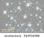 vector white glitter wave... | Shutterstock .eps vector #564936988