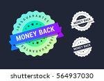money back guarantee badge.... | Shutterstock .eps vector #564937030
