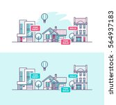 real estate business concept... | Shutterstock .eps vector #564937183