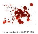 splattered blood stain on white ... | Shutterstock . vector #564941539