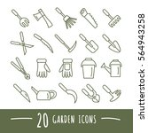 Set Of Garden Tools Icons....