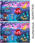 spot the differences. two... | Shutterstock .eps vector #564947950