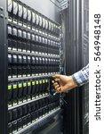 replacing a failed hard drive... | Shutterstock . vector #564948148