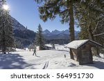 ski run near f ssen  germany | Shutterstock . vector #564951730