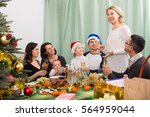 kids and grandchildren... | Shutterstock . vector #564959044