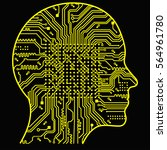 artificial intelligence. the... | Shutterstock .eps vector #564961780