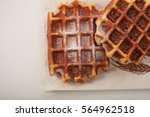 Belgian Waffles With Grated...