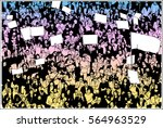 illustration of crowd...   Shutterstock .eps vector #564963529