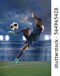 african american soccer player... | Shutterstock . vector #564965428