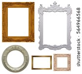 set of picture frames          ... | Shutterstock . vector #564966568