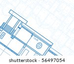 architectural drawing | Shutterstock .eps vector #56497054