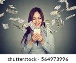 technology online banking money ... | Shutterstock . vector #564973996